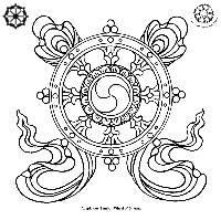 auspicious dharma wheel