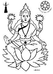 lakshmi coloring pages - maha lakshmi drawing colouring pages